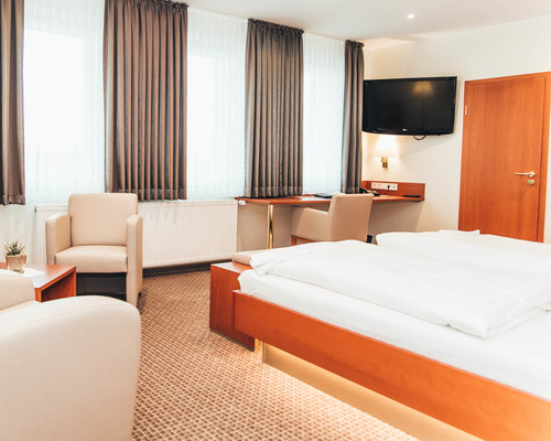 Large and bright rooms in the 4-star-superior hotel Ringhotel Teutoburger Wald in Tecklenburg