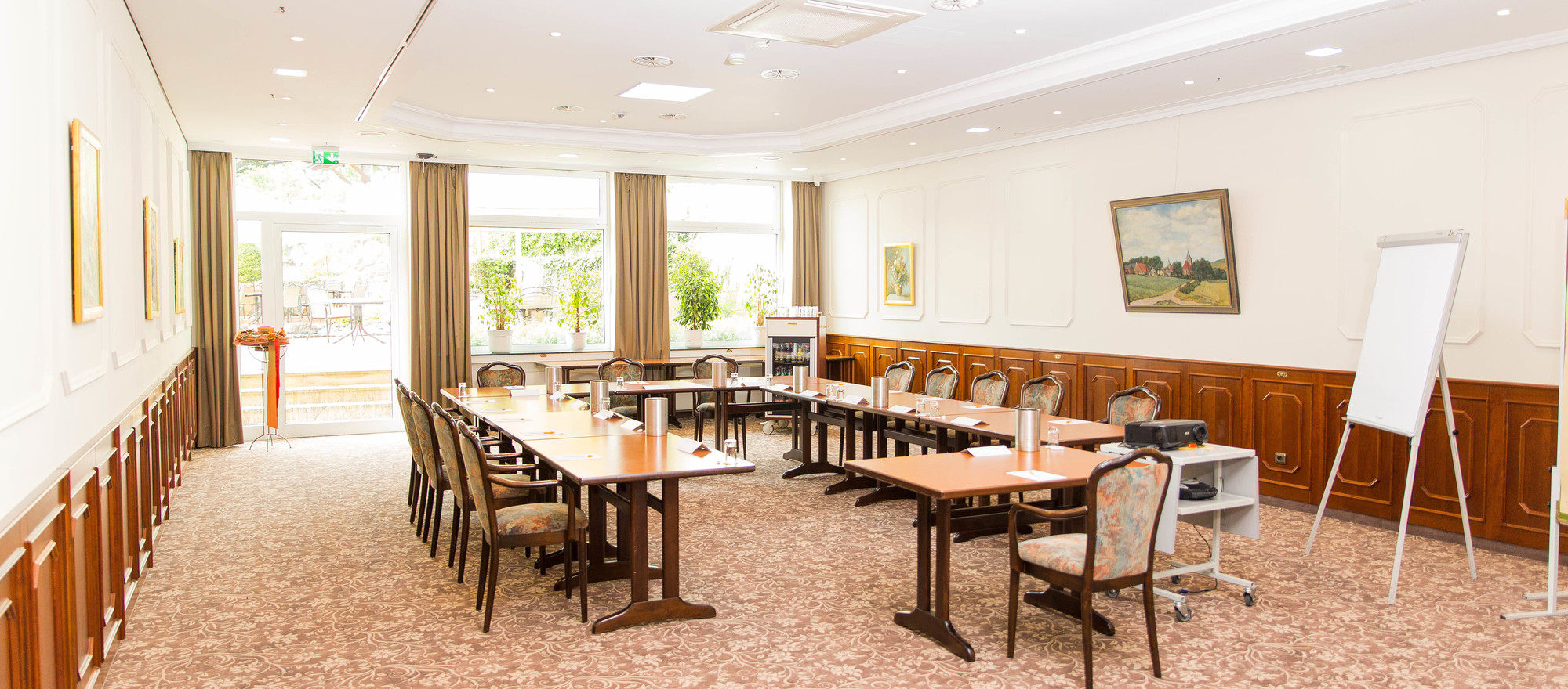 Large seminar room for every occaison in the 4-star-superior hotel Ringhotel Teutoburger Wald in Tecklenburg