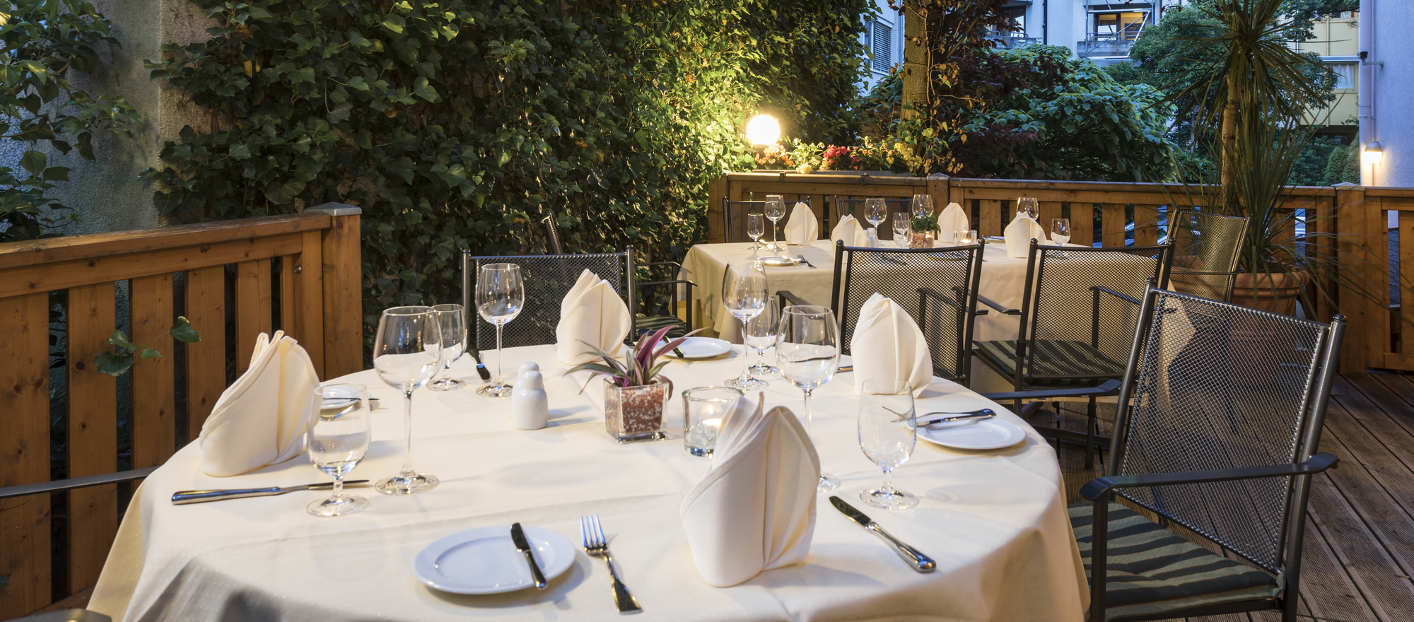 Garden restaurant in the Ringhotel Stadt Coburg, 3-stars superior hotel in Franconia