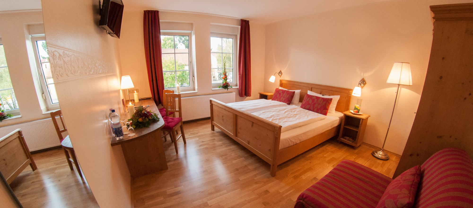 Comfortable double rooms at the the Ringhotel Lutherhotel Eisenacher Hof in Eisenach, 4 star hotel in Thuringian Forest