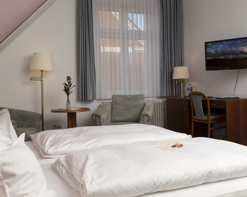 Cosy double rooms at the 4-star hotel Ringhotel Residenz in Wittmund