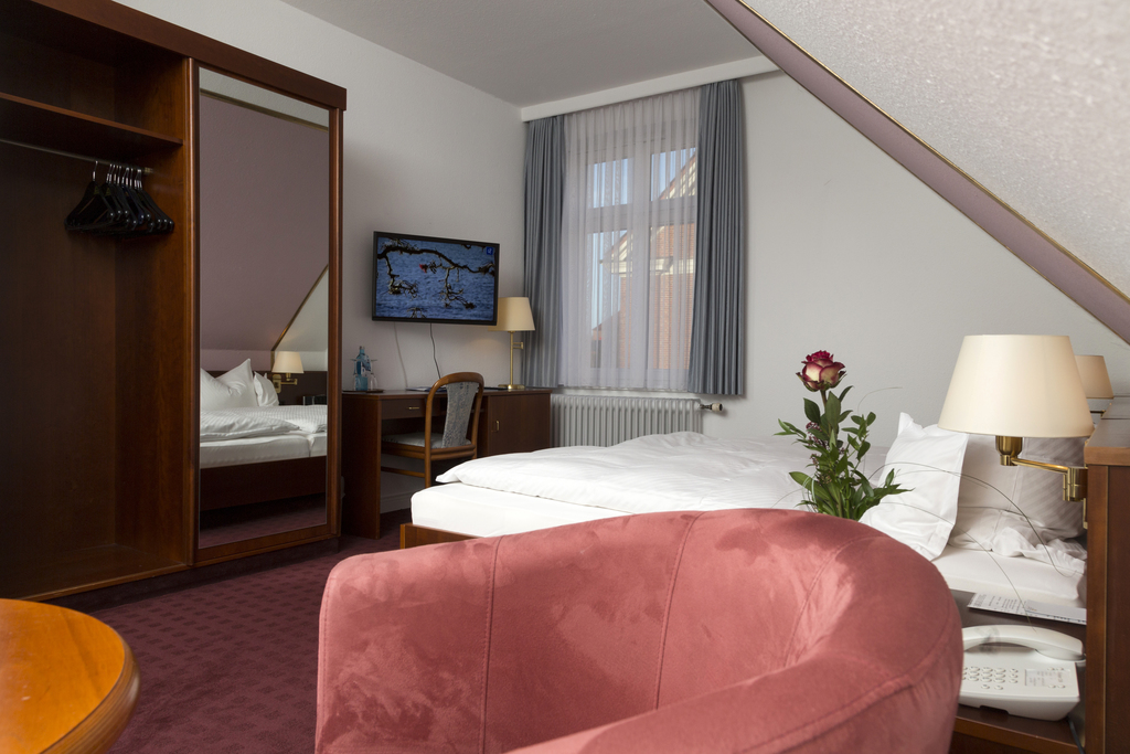 Comfortable double rooms at the 4-star hotel Ringhotel Residenz in Wittmund