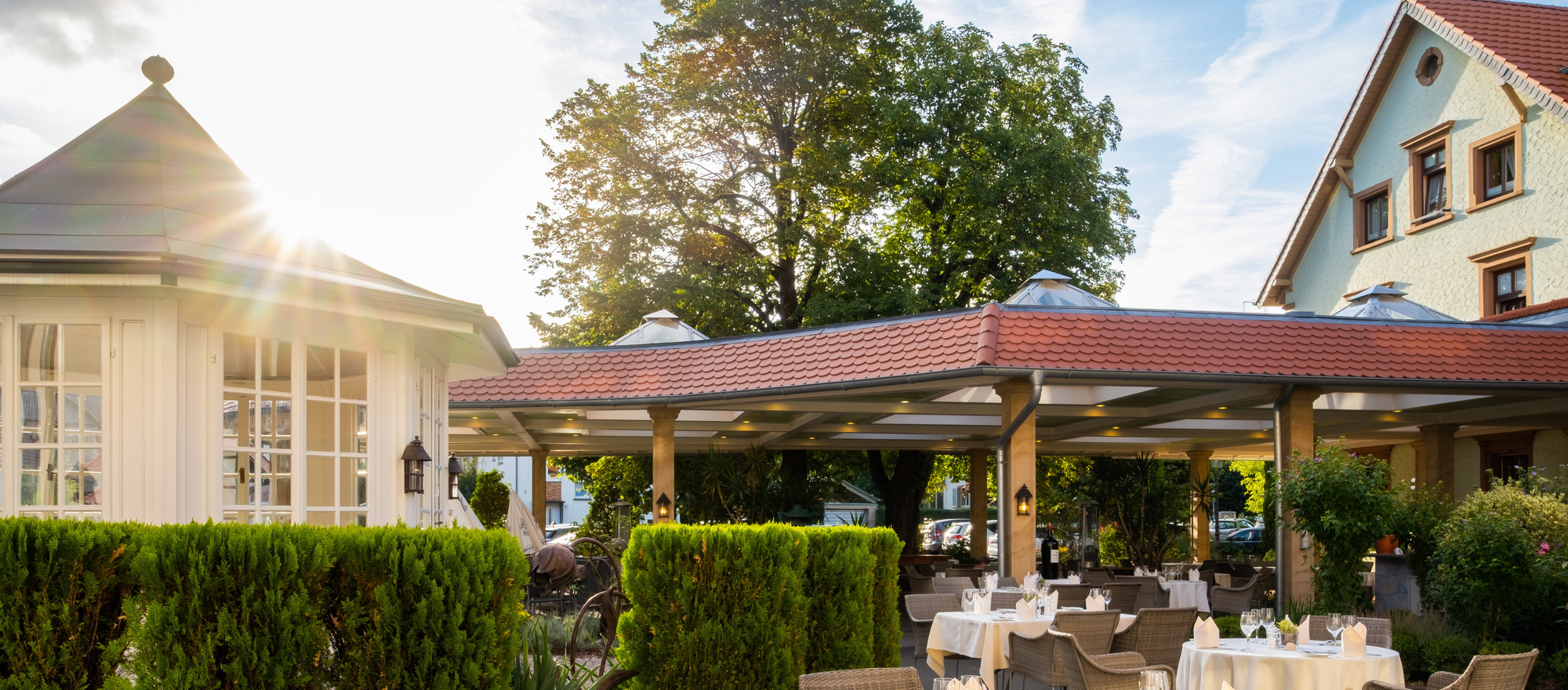 Pavilion for your event at the Ringhotel Winzerhof in Rauenberg, 4 stars hotel in the Kraichgau region