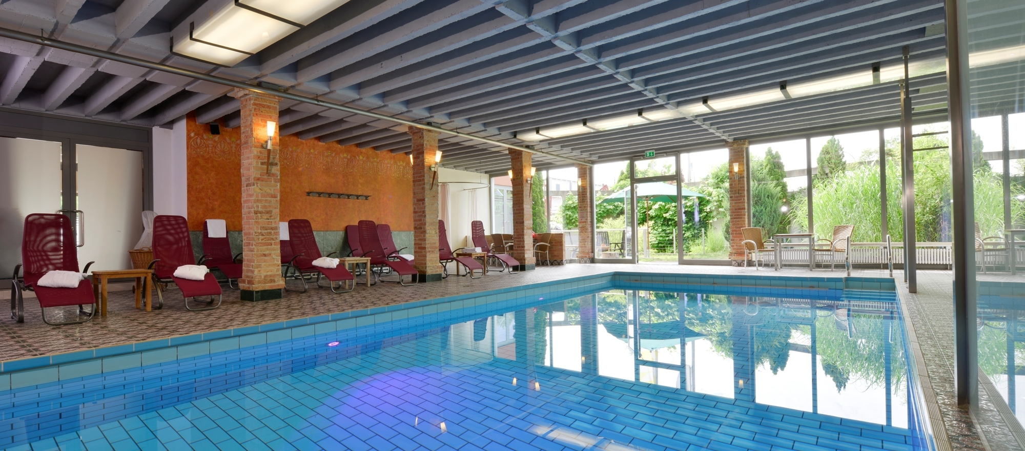 Swimming pool in Ringhotel Alpenhof in Augsburg, hotel in Swabia