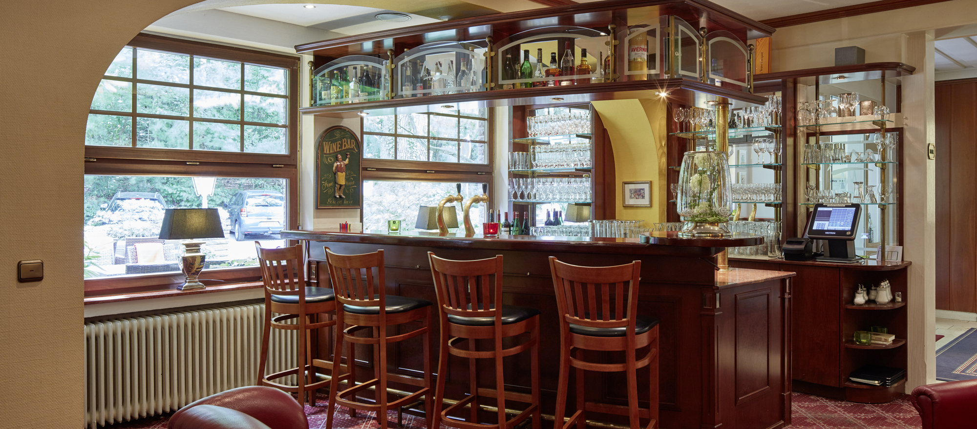 Hotel bar at the  Ringhotel Waldhotel Bärenstein in Horn-Bad Meinberg, 4-Sterne Hotel in the Teutoburg Forest