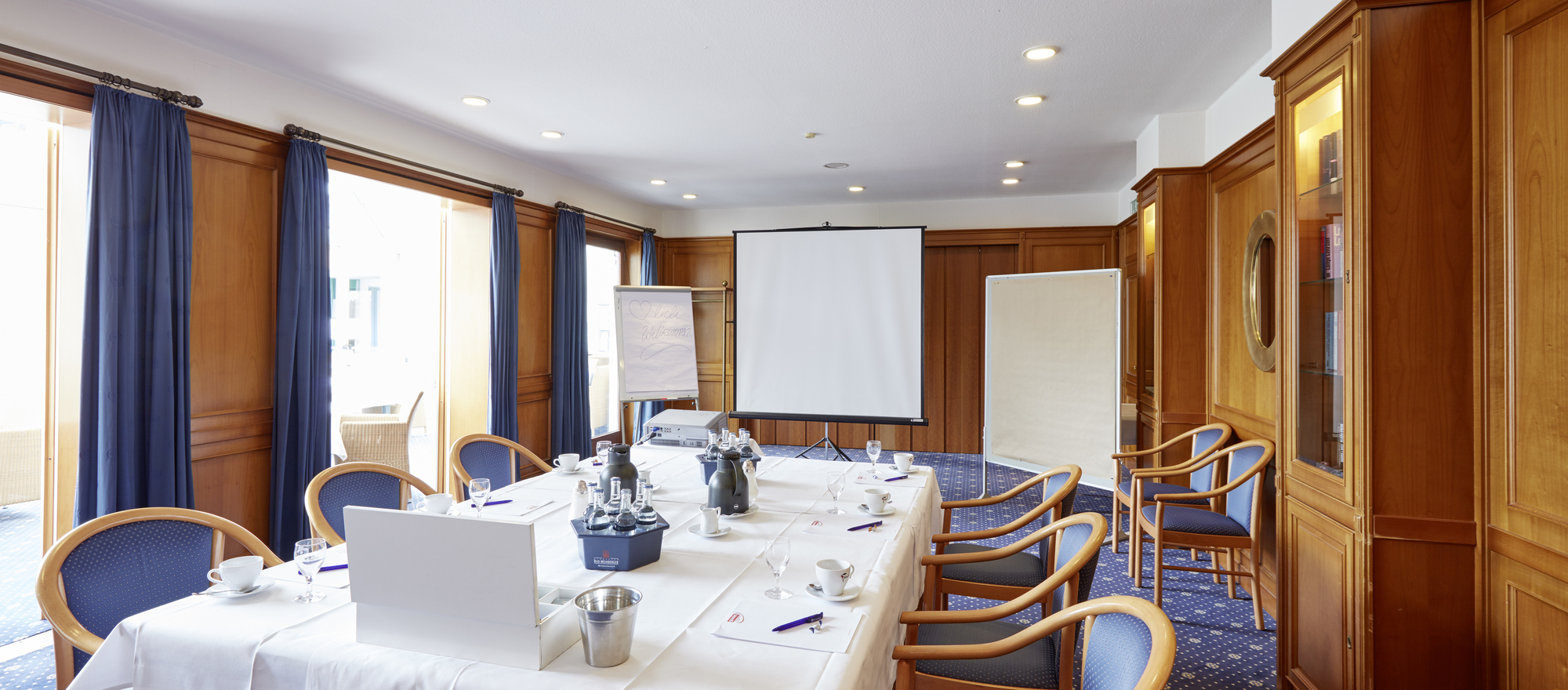 Conference room Falkenburg in the Ringhotel Waldhotel Bärenstein in Horn-Bad Meinberg, 4-Sterne Hotel in the Teutoburg Forest